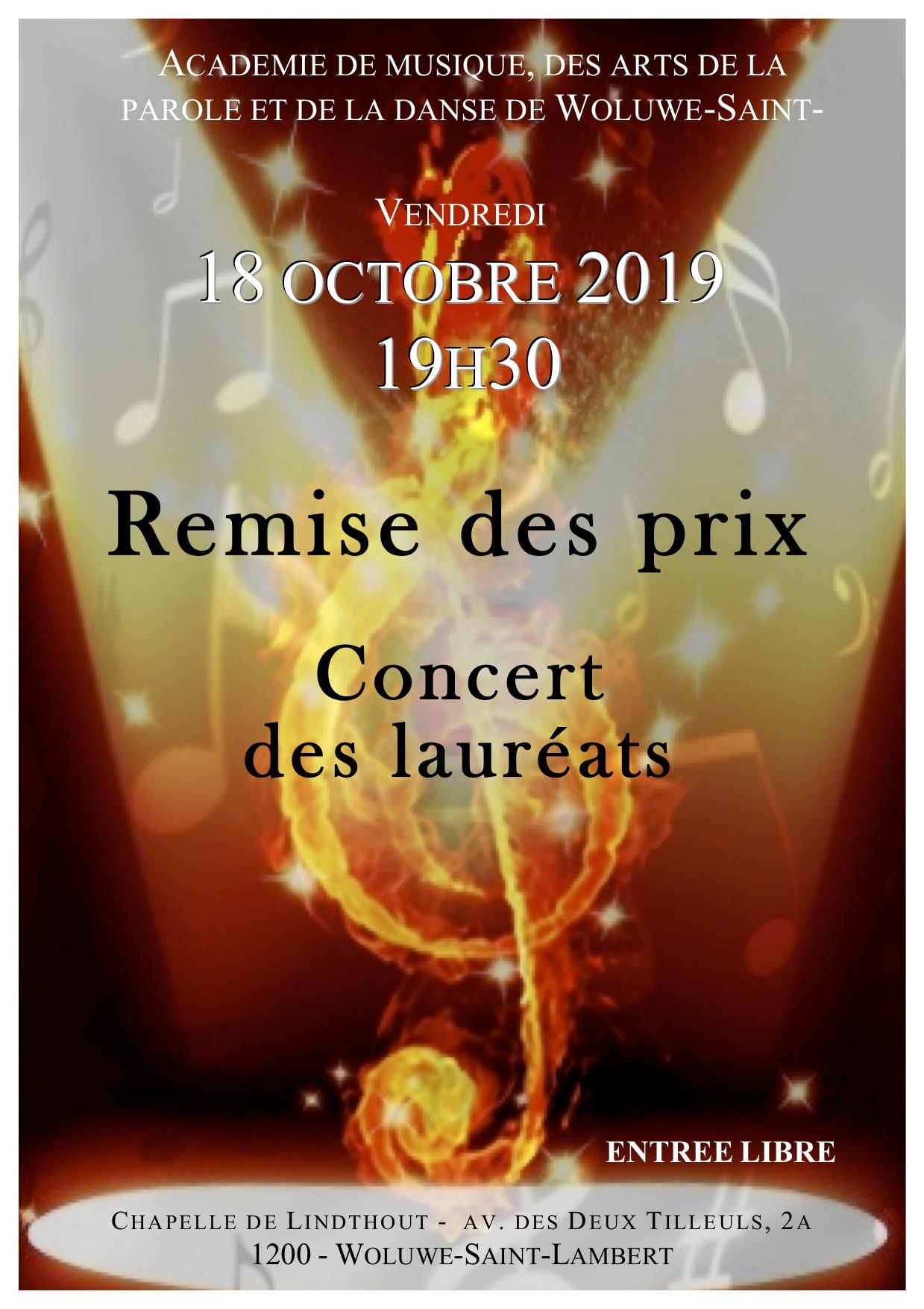 Concert des lauréats Woluwe Saint Lambert @ Chapelle de Lindthout